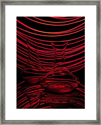 Red Rhythm II Framed Print by Davorin Mance