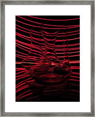 Red Rhythm IIi Framed Print by Davorin Mance