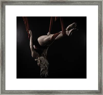 Red Ribbon Wrapped Framed Print