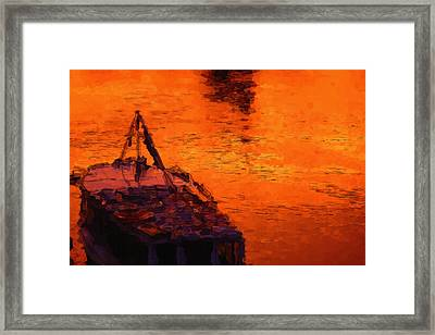 Red Rider Framed Print by Ayse Deniz