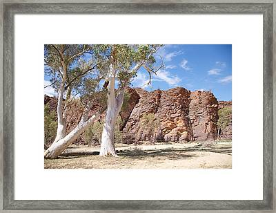 Red Ridge Framed Print by Lee Stickels