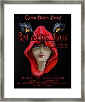 Red Riding Hood Framed Print by Steve Jones