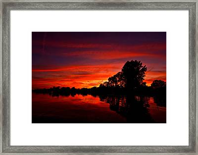 Red Ripples Framed Print