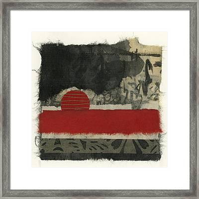 Red Rising Sun Framed Print