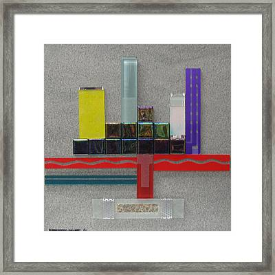 Red River City Framed Print by Elaine Booth-Kallweit