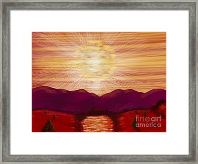 Red River Glory Framed Print by Judy Via-Wolff