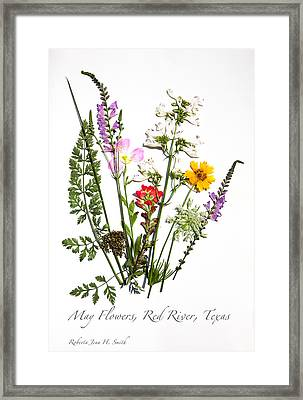 Red River May Flowers Framed Print