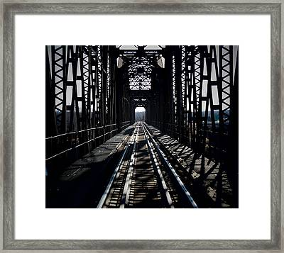 Framed Print featuring the photograph Red River Rail Road Crossing by Diana Mary Sharpton