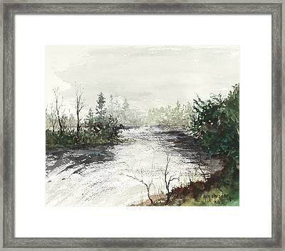 Red River Rapids Framed Print