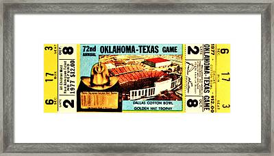 Red River Rivalry '77 Framed Print by Benjamin Yeager