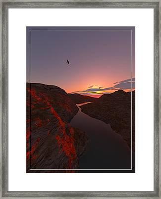 Red River... Framed Print
