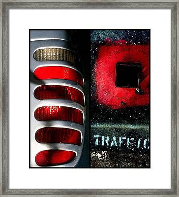 Red Road Rage Framed Print