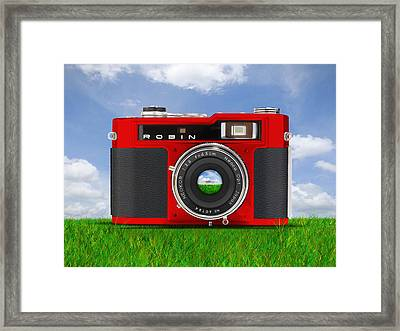 Red Robin Framed Print by Mike McGlothlen