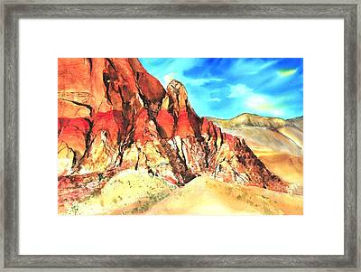Red Rock #1 Framed Print by Betty M M   Wong