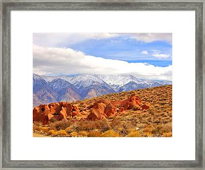 Red Rock And Desert Framed Print