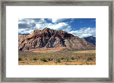 Red Rock Framed Print