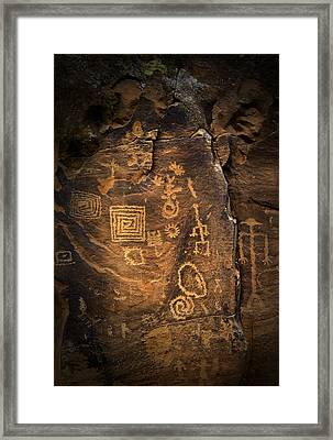 Red Rock Art Framed Print by James Bethanis