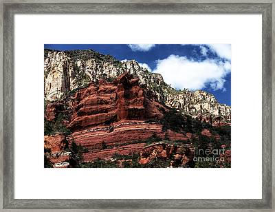 Red Rock At Oak Creek Framed Print by John Rizzuto