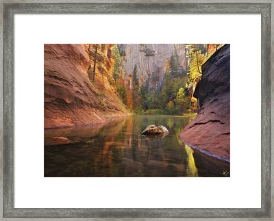 Red Rock Autumn Framed Print by Peter Coskun