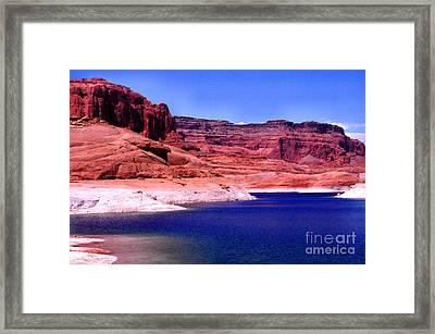 Red Rock Blue Sky Framed Print by Thomas R Fletcher