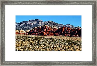 Red Rock Canyon 2 Framed Print by Judy Vincent