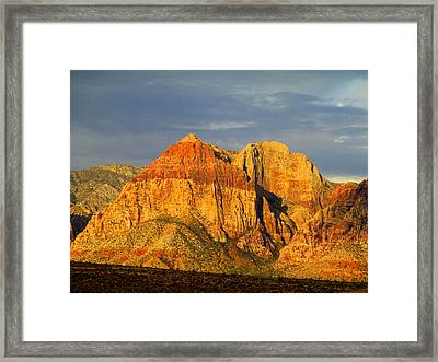 Red Rock Canyon 2014 Number 1 Framed Print by Randall Weidner