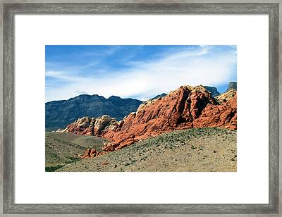 Red Rock Canyon Framed Print by Andrea Dale