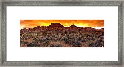 Red Rock Canyon Las Vegas Nevada Fenced Wonder Framed Print