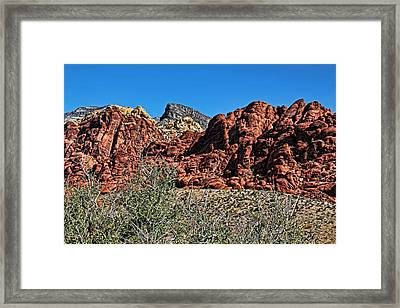 Red Rock Canyon Layers Framed Print by Judy Vincent