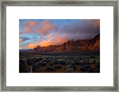 Red Rock Canyon National Conservation Area Las Vegas Framed Print