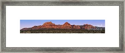 Red Rock Canyon Pano Framed Print