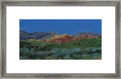 Red Rock Canyon Panorama Framed Print