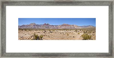 Red Rock Canyon Panorama Nevada. Framed Print by Gino Rigucci