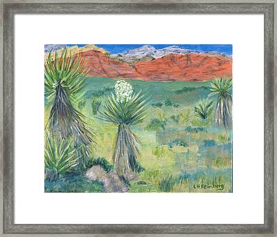 Red Rock Canyon With Yucca Framed Print