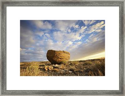 Red Rock Coulee In Cypress Hills Framed Print by Peter Carroll