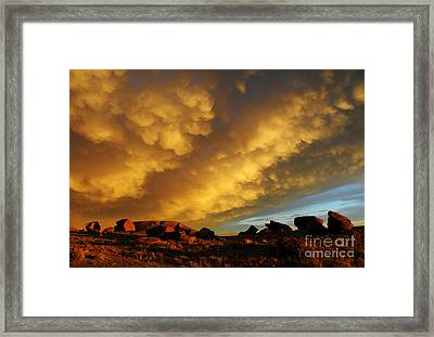 Framed Print featuring the photograph Red Rock Coulee Sunset by Vivian Christopher