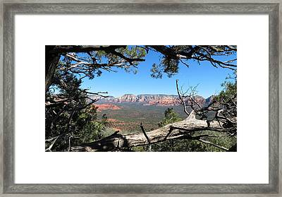Red Rock Country From Doe Mountain Framed Print