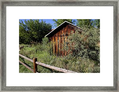 Red Rock Crossing House Framed Print by Ivete Basso Photography