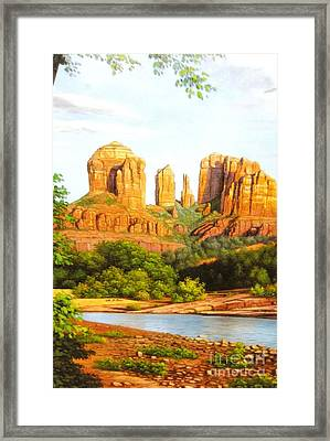 Red Rock Crossing In Sedona Framed Print