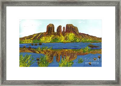 Red Rock Crossing Framed Print by Patrick Grills