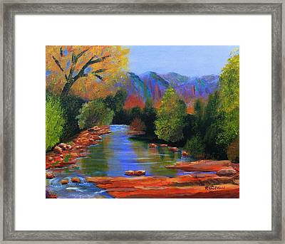 Red Rock Crossing Framed Print by Roy Gould
