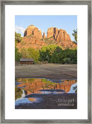 Framed Print featuring the photograph Red Rock Crossing by Ruth Jolly