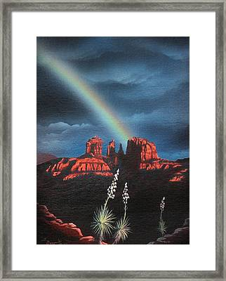 Red Rock Crossing Sedona Arizona Framed Print by Jerry Bokowski