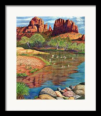 Cathedral Rock Drawings Framed Prints
