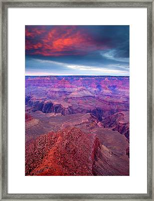 Red Rock Dusk Framed Print