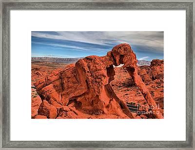 Red Rock Elephant Framed Print
