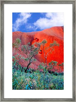 Red Rock Face Central Australia Framed Print