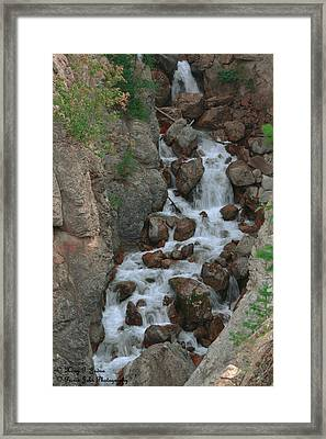 Red Rock Falls Framed Print
