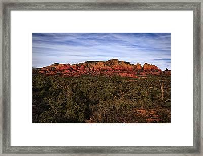 Red Rock Golden Hour 26 Framed Print