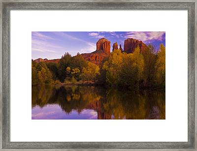 Red Rock Hues Framed Print by Tom Kelly